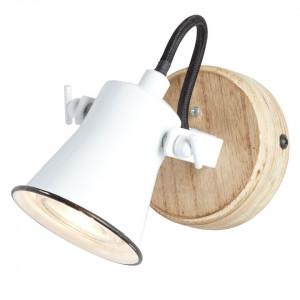 Aplica Seed din metal/lemn, alb, 1 bec, 230 V