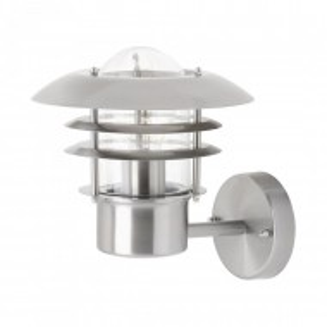 Aplica Terrence metal/sticla, argintiu, 1 bec, diametru 22 cm, 230 V, 60 W