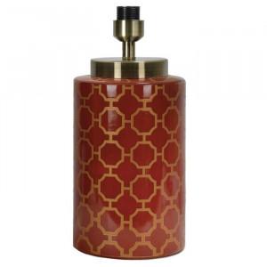 Baza pentru veioza Desmond, 43 cm, ceramica, rosu