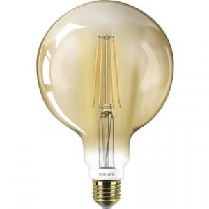 Bec vintage LED variabil Philips E27 8W, glob G120, durata viata 15.000 h