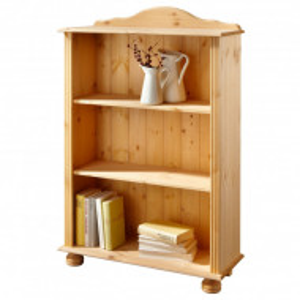 Biblioteca Mette, lemn masiv de pin natur, 70 cm x 116 cm x 30,5 cm