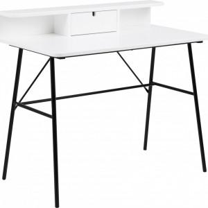 Birou Pascal cu sertar, alb, 100x88x55cm