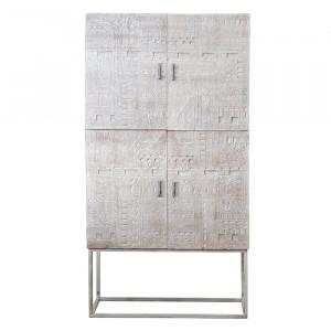 Bufet Darnell, metal/lemn masiv, 177 x 90 x 40 cm