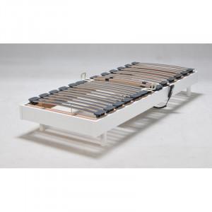 Cadru de pat cu lamele Hanoi, reglabil, alb, 32,5 x 7,8 x 199,5 cm