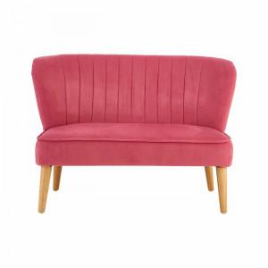 Canapea 2 locuri Isabell, catifea roz