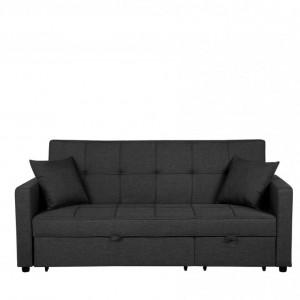 Canapea extensibilă GLOMMA, stofa, gri, 95 x 207 x 87 cm