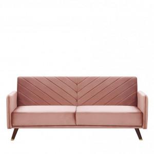 Canapea extensibila SENJA, roz, 87 x 200 x 95 cm