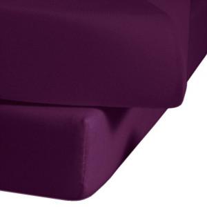 Cearceaf Jersey, bumbac, violet, 100 x 200 cm