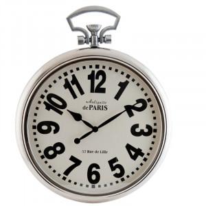 Ceas de perete, cadru din metal, 51cm L x 64cm H x 7cm D