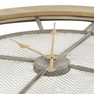 Ceas de perete Coquelicot XXL, gri/maro, 80 x 80 x 5,5 cm