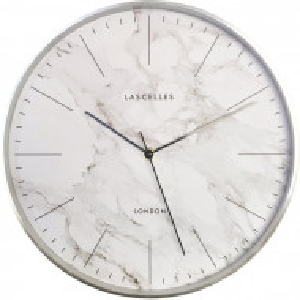 Ceas de perete, metal, alb/gri, 31 x 31 x 4,2 cm