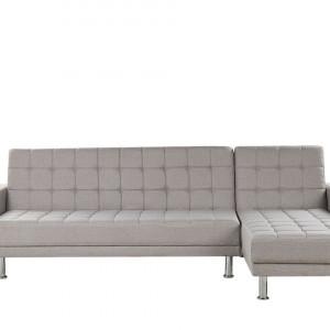 Coltar extensibil NESSET, textil, gri, 80 x 264 x 144 cm