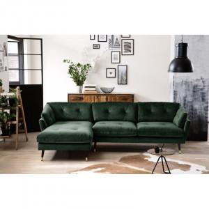 Coltar Tomlin, lemn masiv, verde, 84 x 270 x 155 cm
