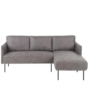 Coltar VERRAN, textil, gri, 83 x 194 x 74 cm