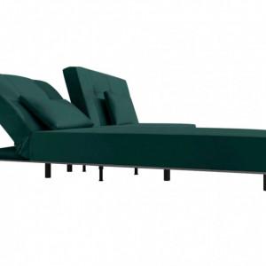 Coltar Win, cu funcție de pat/șezlong, montabil opțional pe stânga/ dreapta, textil, verde, 82 x 205 x 149 cm