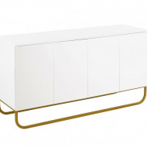 Comoda Sanford din lemn, alb, 160 x 83 cm