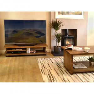 "Comodă TV 50 "" din lemn masiv Groton, 120cm W x 33cm H x 40cm D"
