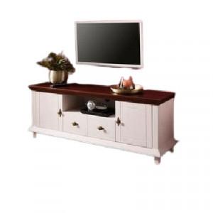 Comoda TV Home Affaire, lemn masiv de pin, alb