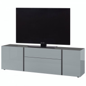 Comoda TV Mesa II sticla/PAL, gri/ argintiu, 180 x 55 x 43 cm