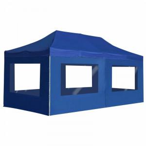 Cort Abirad 6m x 3m, metal, albastru