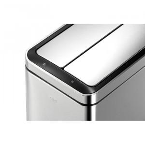 Coș de gunoi Deluxe, cu senzor de miscare, argintiu, 40 L, 66 x 46 x 27 cm