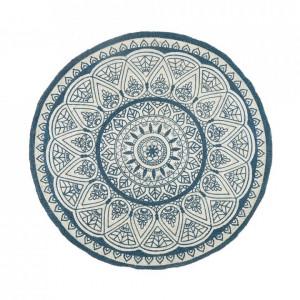 Covor Anadere din iută, albastru, ø 120 cm