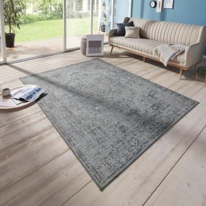 Covor Cenon fibre sintetice, gri inchis, 154 x 230 cm