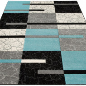 Covor Lucien, albastru/gri/negru, 200 x 200 cm