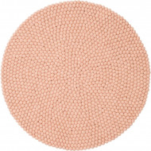 Covor Merle, lana, lucrat manual, roz, 50 cm