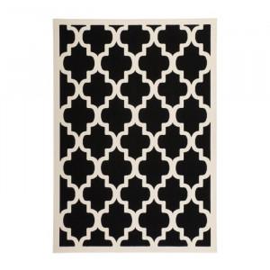 Covor Sleaford, polipropilena, negru, 200 x 290 cm