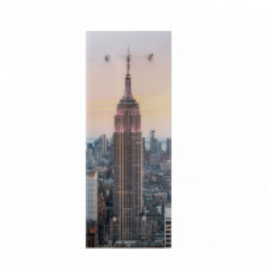 Cuier cu fata Empire sticla / metal, multicolor, 50 x 125 x 4 cm