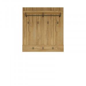 Cuier de perete Arwen, MDF, maro, 101 x 93 x 32 cm