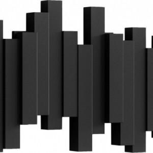 Cuier, negru, 48 x 18 x 3 cm
