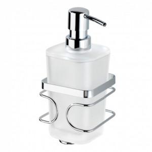 Dispenser sapun lichid Premium otel inoxidabil, argintiu, 355 ml, 10 x 18 x 9 cm