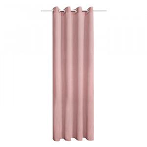 Draperie Brogin, poliester, roz, 140 x 245 cm