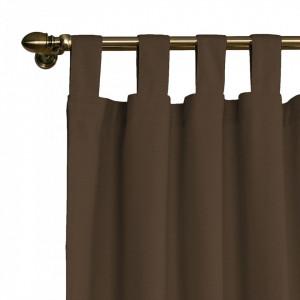Draperie Panama bumbac, maro, 130 x 260 cm