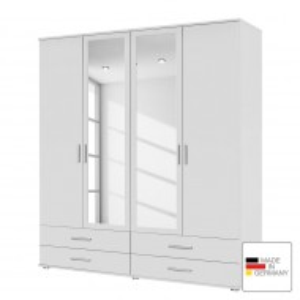Dressing Rassant I - alb alpin- 168 cm (4-usi) - 2 usi cu oglinda