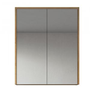 Dulap cu oglinda Kesington, lemn, maro, 72 x 60 x 16 cm