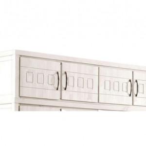 Dulap suspendat Antresole by Home Affaire, lemn masiv, 4 usi, alb