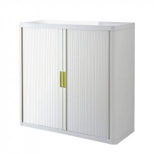 Dulapior pentru birou cu cheie EasyOffice II plastic/metal, alb, 110 x 104 x 41,5 cm