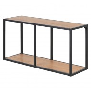 Etajera Coogee MDF/metal, maro/negru, 73 x 37 x 24 cm