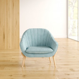Fotoliu Hare, albastru, catifea, 78 x 78 x 70 cm