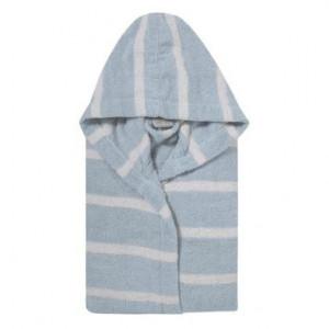 Halat de baie unisex Menton azzurro/bianco, marimea XL