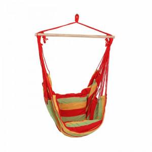 Hamac Samira, rosu/verde/galben, 120 x 90 x 60 cm