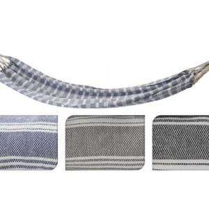Hamac tesatura/textile, bej/albastru/gri, 110 x 220 cm