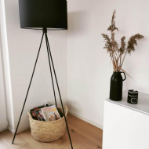 Lampadar Cella, negru, 45 x 24 x 147 cm