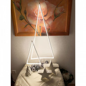 Lampadar, metal, argintiu, 40 x 100 x 10 cm, 6w
