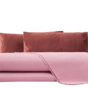 Lenjerie din catifea roz, matrimonială