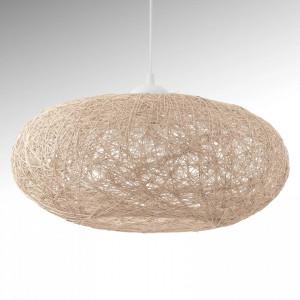 Lustra tip pendul Campilo, tesatura/plastic, bej, 45 x 110 x 45 cm,60w