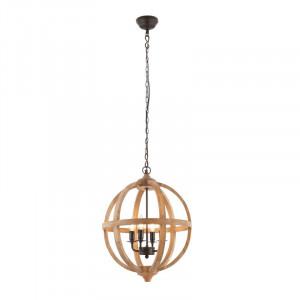 Lustra tip pendul Globe Conn, cu 4 lumini, 80 x 43 cm